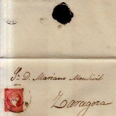 Sellos: AÑO 1856 EDIFIL 48 ENVUELTA MATASELLOS RUEDA DE CARRETA 15 ZARAGOZA. Lote 133638442