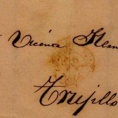 Sellos: AÑO 1856 EDIFIL 48 ENVUELTA DIRIGIDA A TRUJILLO MATASELLOS REJILLA. Lote 133639326