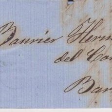 Sellos: AÑO 1867 EDIFIL 88 ISABEL II CARTA MATASELLOS REJILLA CIFRA 21 BURGOS. Lote 133722126