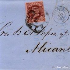 Sellos: AÑO 1858 EDIFIL 58 ISABEL II CARTA MATASELLOS RURDA DE CARRETA 2 BARCELONA . Lote 133724910