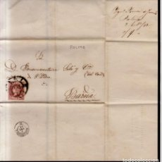 Sellos: AÑO 1862 EDIFIL 58 ISABEL II ENVUELTA MATASELLOS RUEDA DE CARRETA 37 PALMA DE MALLORCA IGNACIO POMAR. Lote 133748154