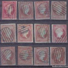 Sellos: SS14- CLÁSICOS EDIFIL 40/40A X 12 SELLOS VARIEDADES DE COLOR . PARRILLAS AZULES / NEGRAS . Lote 133972194
