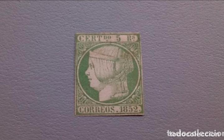 SUB- ESPAÑA - 1852 - ISABEL II - EDIFIL 15 - MH* - NUEVO - AUTENTICO - VALOR CATALOGO 3150€. (Sellos - España - Isabel II de 1.850 a 1.869 - Nuevos)