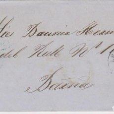 Sellos: AÑO 1856 EDIFIL 48 ISABEL II CARTA MATASELLOS REJILLA LERIDA. Lote 135153938