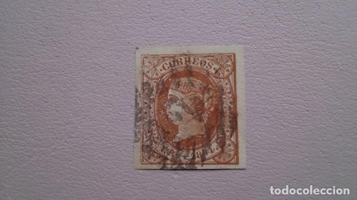 ESPAÑA - 1864 - ISABEL II - EDIFIL 67 - GRANDES MARGENES - LUJO - VALOR CATALOGO 122€. (Sellos - España - Isabel II de 1.850 a 1.869 - Usados)