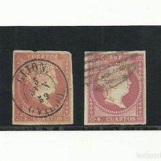 Sellos: 1856, EDIFIL 48 (DOS VERSIONES). Lote 135815226