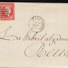 Sellos: CARTA ENTERA CON PAREJA DE SELLOS NUM. 48 -1857 DE GOMÉ Y MATHEU EN TARRAGONA A REUS. Lote 136258470