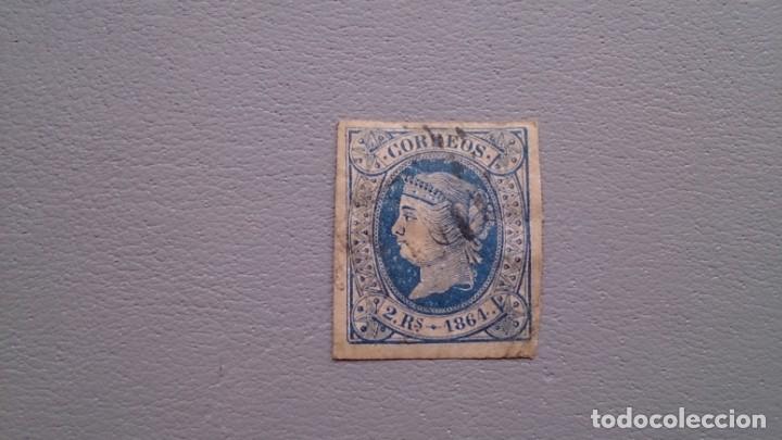 ESPAÑA - 1864 - ISABEL II - EDIFIL 68 - GRANDES MARGENES - LUJO - ASPECTO DE NUEVO. (Sellos - España - Isabel II de 1.850 a 1.869 - Usados)