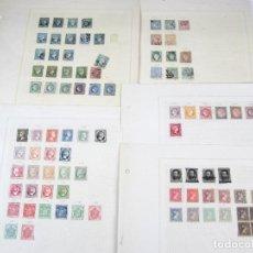 Sellos: ESPAÑA, ANTILLAS, 6 CUARTOS, ETC. 1850-60'S. LOTE DE 5 HOJAS DE SELLOS. VER FOTOS. Lote 136698674
