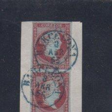 Sellos: EDIFIL 40 US. 4 CU ISABEL II. FRAGMENTOS CON TRES SELLOS.. Lote 137547630