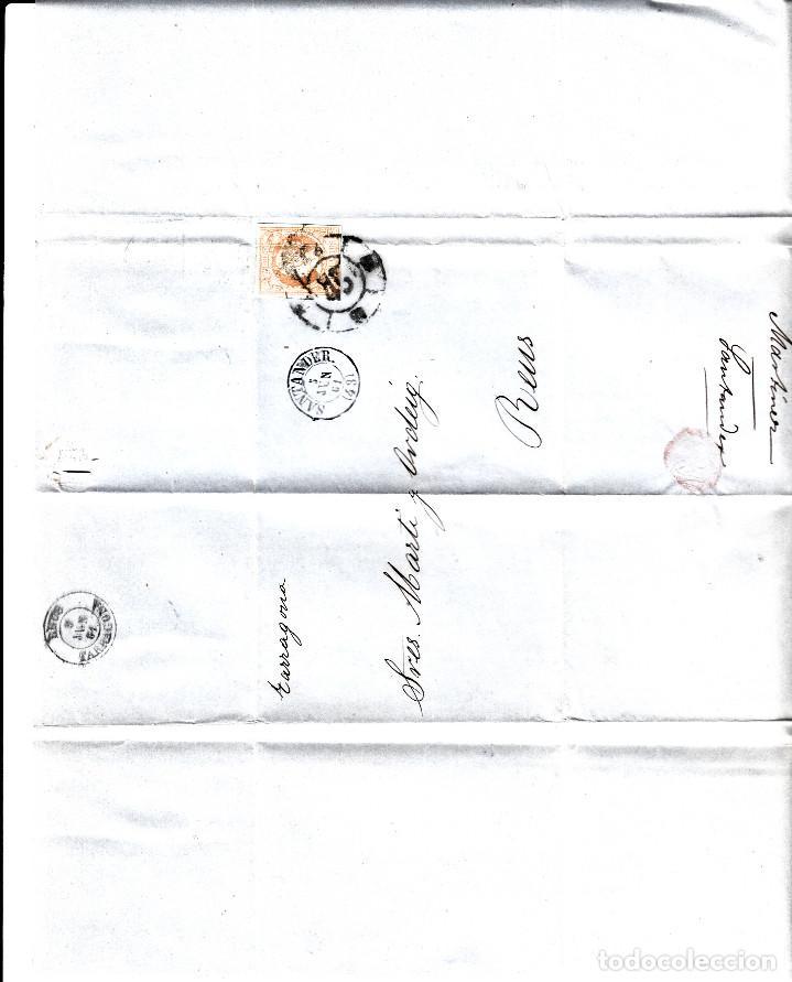 Sellos: LOTE 3 CARTAS CON MATASELLOS RUEDA DE CARRETA - BILBAO SANTANDER ZARAGOZA - Foto 2 - 137929678