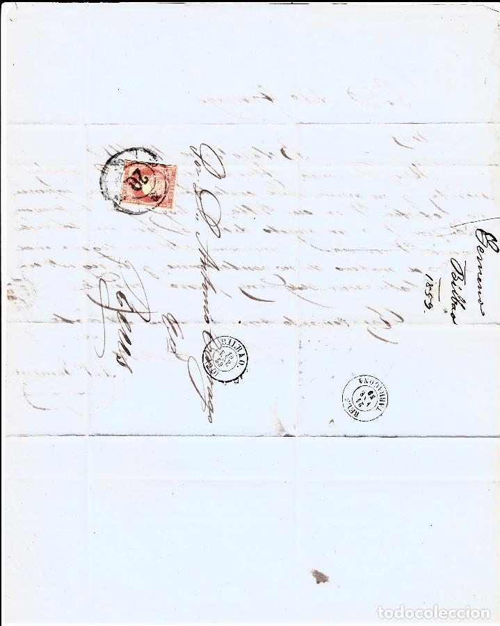 Sellos: LOTE 3 CARTAS CON MATASELLOS RUEDA DE CARRETA - BILBAO SANTANDER ZARAGOZA - Foto 3 - 137929678