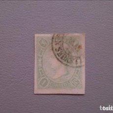Sellos: ESPAÑA - 1865 - ISABEL II - EDIFIL 72 - BONITO - MATASELLOS FECHADOR SAN SEBASTIAN - V.CAT.100€. Lote 138872442