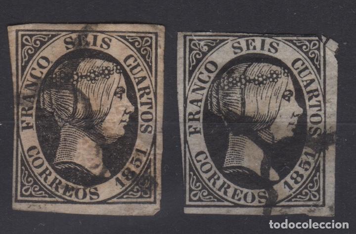 1951 ISABEL II EDIFIL 6(º) VC 9,00€ (Sellos - España - Isabel II de 1.850 a 1.869 - Usados)