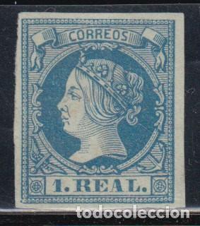 ESPAÑA, 1860 - 1861 EDIFIL Nº 55 ( * ), MAGNÍFICO, (Sellos - España - Isabel II de 1.850 a 1.869 - Nuevos)