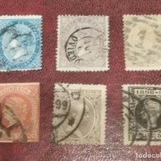 Sellos: LOTE SELLOS ANTIGUOS 1864-1898 MATASELLADOS SIN GOMA. Lote 139529278