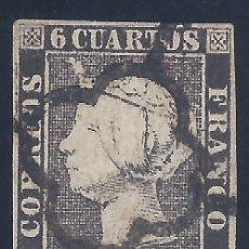 Sellos: EDIFIL 1A. ISABEL II. AÑO 1850. EXCELENTE MATASELLOS DE ARAÑA NEGRA. PAPEL GRUESO. LUJO.. Lote 139589734