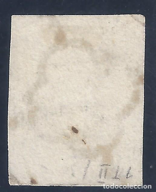 Sellos: EDIFIL 1A. ISABEL II. AÑO 1850. EXCELENTE MATASELLOS DE ARAÑA NEGRA. PAPEL GRUESO. LUJO. - Foto 2 - 139589734