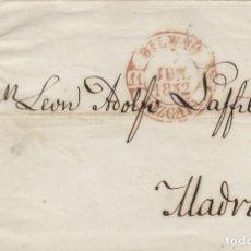 Sellos: ENVUELTA DE CARTA ISABEL Nº 12 ,6 CUARTOS ,AÑO 1852 .-MAT PARRILLA FECHADOR BAEZA DE BILBAO A MADRID. Lote 140099478