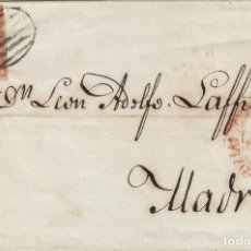 Sellos: ENVUELTA DE CARTA ISABEL Nº 12 ,6 CUARTOS ,AÑO 1852 .-MAT PARRILLA FECHADOR BAEZA DEST MADRID . Lote 140099802
