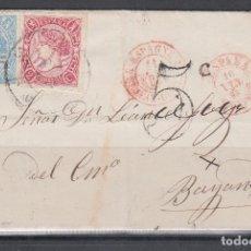 Sellos: IRUN - BAYONA, EDIFIL Nº 69, 74, FRANQUEO FRONTERIZO, . Lote 140286698