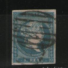 Sellos: 1855 ISABEL II 1 REAL MATASELLADO EDIFIL 49 V/CATALOGO 34 EUROS. Lote 140750010