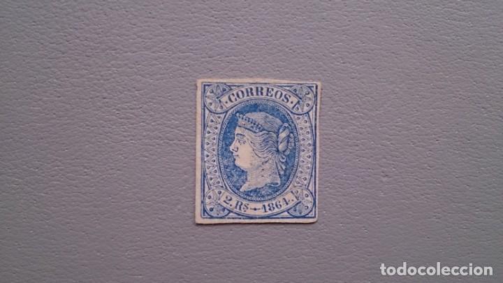 ESPAÑA - 1864 - ISABEL II - EDIFIL 68 - MH* - NUEVO - VALOR CATALOGO 64€. (Sellos - España - Isabel II de 1.850 a 1.869 - Nuevos)