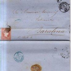 Sellos: AÑO 1856 EDIFIL 48 CARTAL MATASELLOS REJILLA TARRAGONA. Lote 142461562