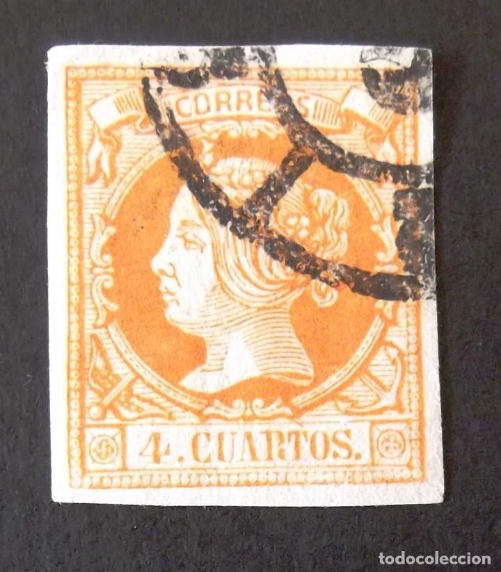 52, USADO. RUEDA CARRETA. ISABEL II (1860-61). (Sellos - España - Isabel II de 1.850 a 1.869 - Usados)