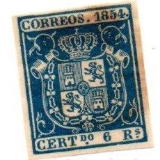 Sellos: ESPAÑA 1854 EDIFIL Nº 27. Lote 143189866
