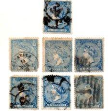 Sellos: ESPAÑA 1866 - ISABEL II - EDIFIL 81 - 4 CUARTOS AZUL. Lote 143322470