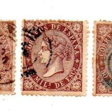 Sellos: ESPAÑA 1868-EDIFIL-98-50M- VIOLETA. Lote 143335926