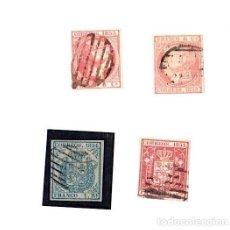 Sellos: LOTE DE 4 SELLOS CORREOS. 1852 - 1853 Y 1854. Lote 143396326