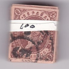 Sellos: CJST- CLÁSICOS ISABEL II EDIFIL 58 . 100 SELLOS EN PASTILLA. Lote 143435006