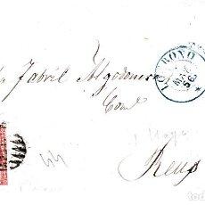 Sellos: CARTA COMPLETA DE PEDRO GIMENEZ EN LOGROÑO 1856 CON NUM .44 PARRILLA Y FECHADOR . Lote 143492126