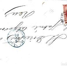 Sellos: CARTA COMPLETA DE JUAN IGLESIAS EN IGUALADA 1856 CON NUM .44 PARRILLA Y FECHADOR . Lote 143493810
