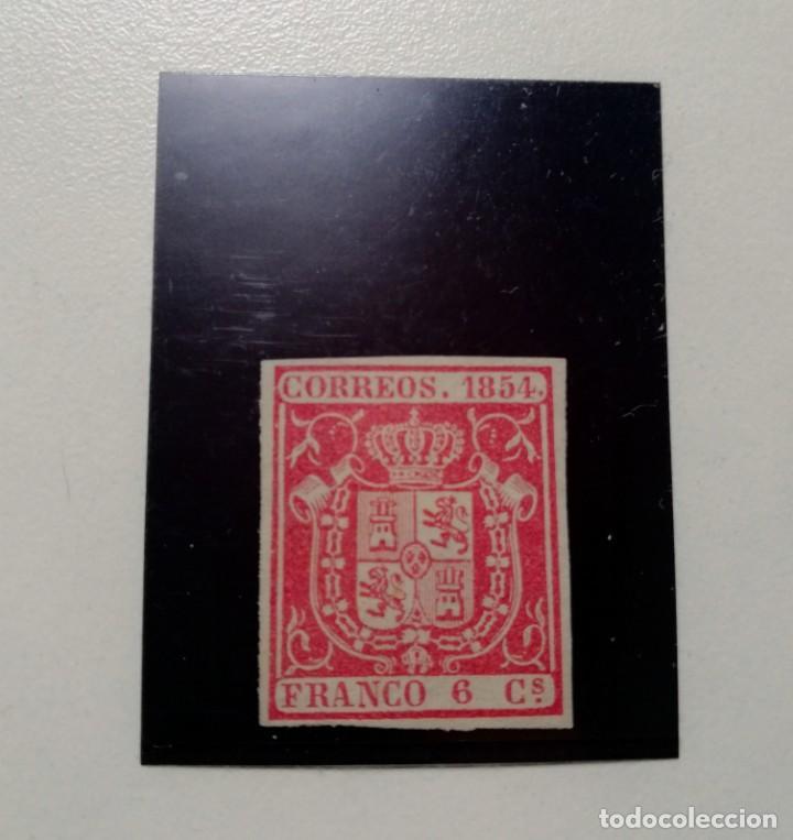ESPAÑA.AÑO 1854.// 6 CUARTOS CARMÍN,NUEVO. (Sellos - España - Isabel II de 1.850 a 1.869 - Nuevos)