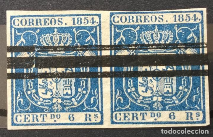 1854-ESPAÑA CLÁSICOS EDIFIL 27º USADO PAREJA (Sellos - España - Isabel II de 1.850 a 1.869 - Usados)