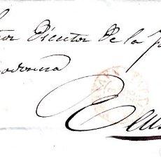 Sellos: CARTA COMPLETA DE ARROYO ,RUIZ Y PADILLA EN TAFALLA -1856 .CON NUM .44 PARRILLA Y FECHADOR ROJO. Lote 143808786