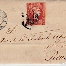 Sellos: CARTA COMPLETA DE JOSÉ FRANCA EN TUDELA -1856 .CON NUM .44 PARRILLA Y FECHADOR . Lote 143838366
