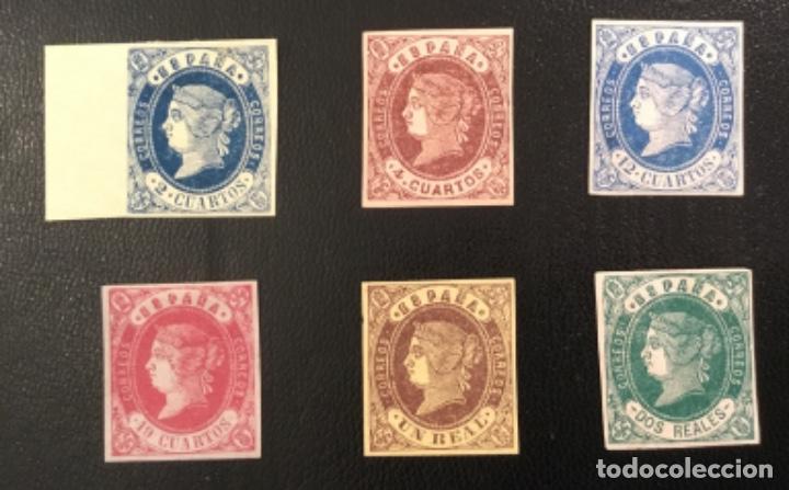 1862-ESPAÑA ISABEL II EDIFIL 57/62* SERIE COMPLETA - NUEVO - (Sellos - España - Isabel II de 1.850 a 1.869 - Nuevos)
