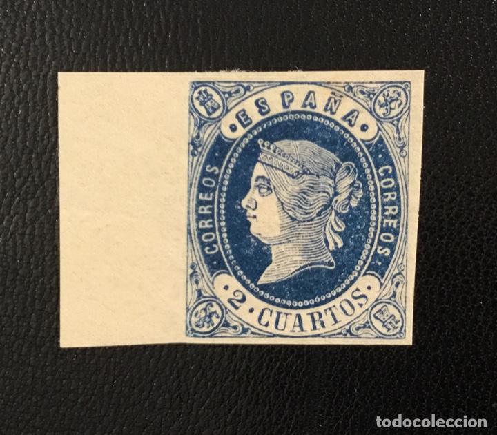 Sellos: 1862-ESPAÑA ISABEL II EDIFIL 57/62* SERIE COMPLETA - NUEVO - - Foto 2 - 143895706