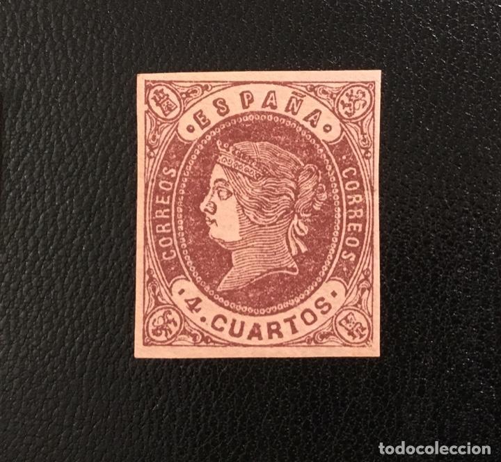 Sellos: 1862-ESPAÑA ISABEL II EDIFIL 57/62* SERIE COMPLETA - NUEVO - - Foto 3 - 143895706