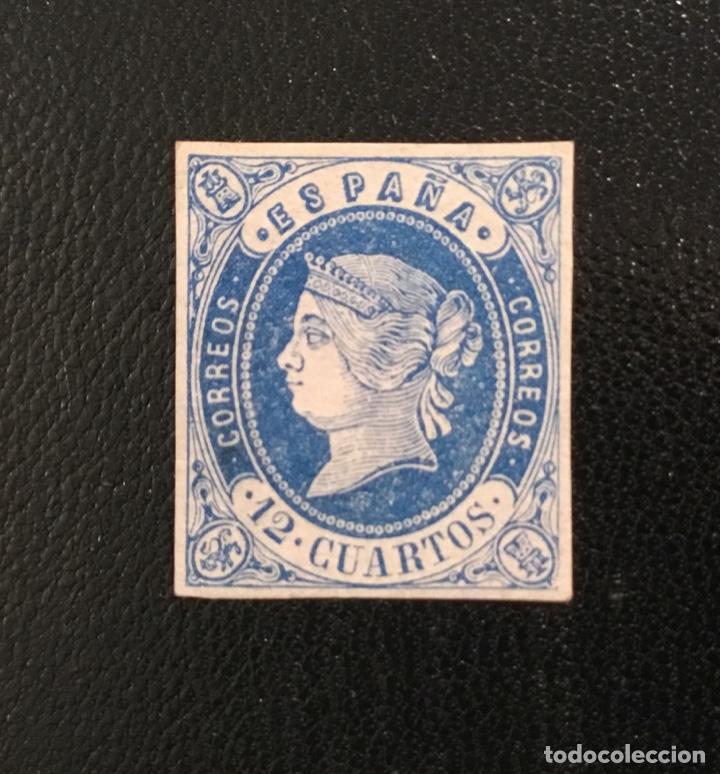 Sellos: 1862-ESPAÑA ISABEL II EDIFIL 57/62* SERIE COMPLETA - NUEVO - - Foto 4 - 143895706