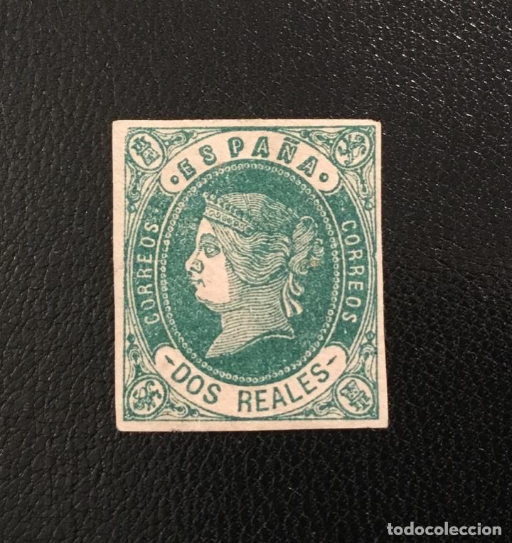 Sellos: 1862-ESPAÑA ISABEL II EDIFIL 57/62* SERIE COMPLETA - NUEVO - - Foto 7 - 143895706