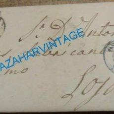 Sellos: CARTA AÑO 1855. ISABEL Nº 40 OSUNA / LOJA MATASELLOS PARRILLA , FECHADOR AZUL. Lote 144206418
