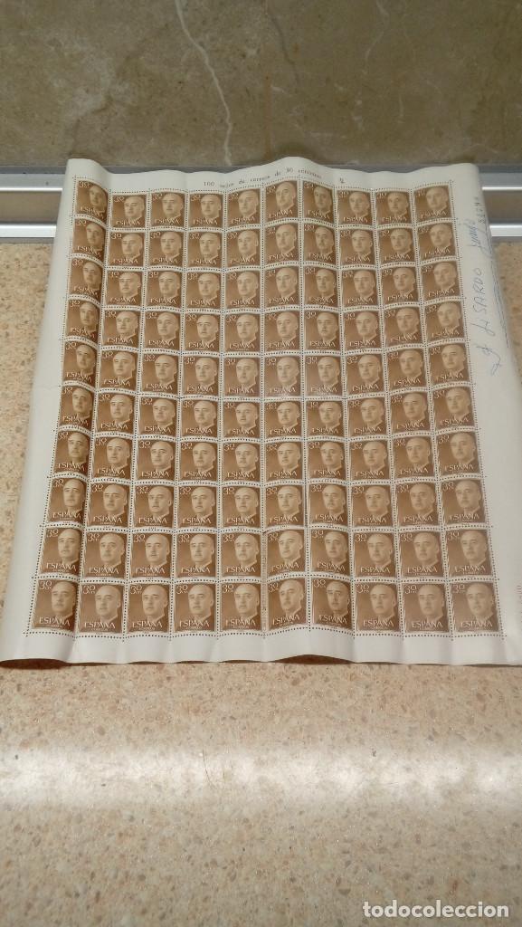 PLIEGO DE 100 SELLOS DE FRANCO DE 30 CÉNTIMOS, 1955, NUEVOS, SELLOS DEL ESTADO ESPAÑOL. (Sellos - España - Isabel II de 1.850 a 1.869 - Nuevos)