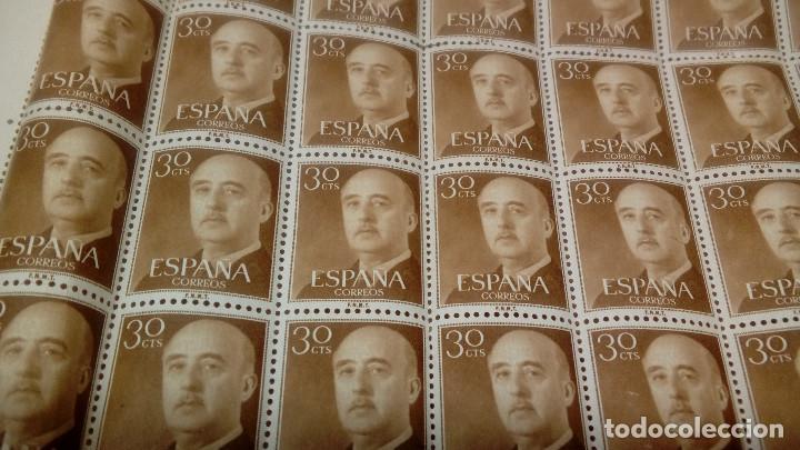 Sellos: PLIEGO DE 100 SELLOS DE FRANCO DE 30 CÉNTIMOS, 1955, NUEVOS, SELLOS DEL ESTADO ESPAÑOL. - Foto 6 - 144407286