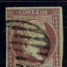 Sellos: EDIFIL Nº 42, ISABEL II, USADO, MUY BIEN CENTRADO, MATASELLO PARRILLA, BIEN DE MARGENES. Lote 145096786