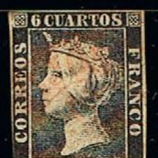 Sellos: EDIFIL Nº 1 A, ISABEL II, USADO, PLANCHA 2. PRIMER SELLO ESPAÑOL. Lote 145097626